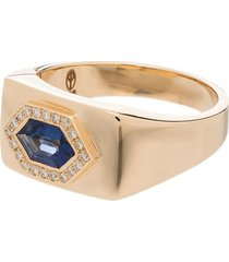 o thongthai 14kt yellow gold sapphire and diamond petra ring