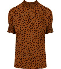 cheetah col top cognac