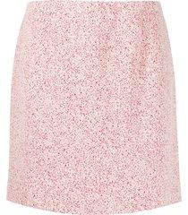 namacheko micro-pattern mini skirt - white