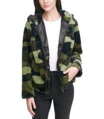 calvin klein jeans faux-fur jacket