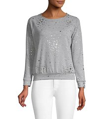 foiled star cropped sweatshirt