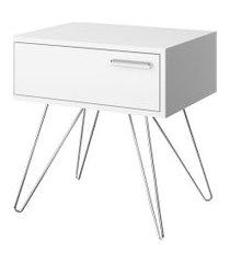 mesa de cabeceira 1 gaveta 881 branco móveis carraro