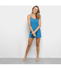 pijama lupo short doll liganete alça feminino