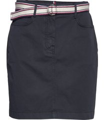 gmd cotton tencel slim skirt kort kjol blå tommy hilfiger