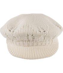 max mara mandare flat cap in ivory cashmere