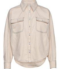 alina shirt overshirts crème blanche