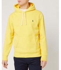 polo ralph lauren men's fleece hoodie - sunfish yellow - s