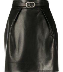 alexandre vauthier belted fitted skirt - black