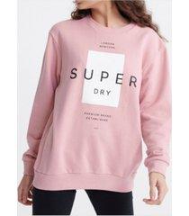 superdry women's premium block portland crew sweatshirt
