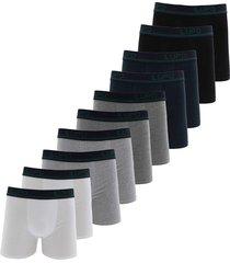 kit 10pçs cueca lupo boxer logo grafite/branco/preto