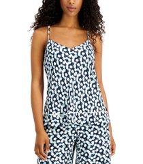 calvin klein women's printed pajama cami tank