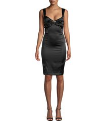 ruched silk sheath dress