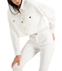 inc cropped drop-shoulder jacket, created for macy's