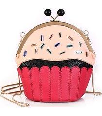 donne cute cake ice cream borsa chain crossbody borsa pu leather shoulder borsa