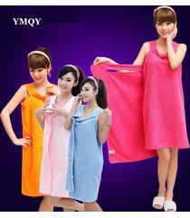 women-bath-towel-wearable-microfiber-fabric-pink-beach-towel-rose-red-wrap-skirt