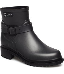 ai macadames lw metallic shoes boots ankle boots ankle boots flat heel svart aigle