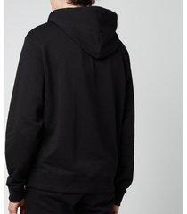 kenzo men's tiger crest full zip hoodie - black - xxl