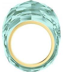 anillo swarovski nirvana, aqua, pvd dorado  5508716