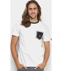 camiseta quiksilver especial floral lateral masculina