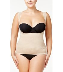 maidenform women's firm foundations curvy plus size firm control lace-hem torsette dm1026