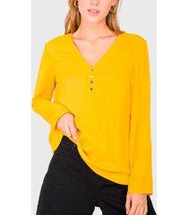 blusa io amarillo - calce regular