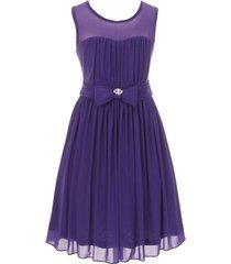 purple sleeveless sweetheart mesh chiffon illusion neckline flower girl dress