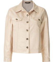 eva onça crepe jacket - gold