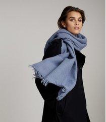 reiss lydia - alpaca wool blend scarf in blue, womens