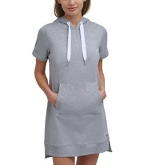 calvin klein women's hooded sweatshirt dress