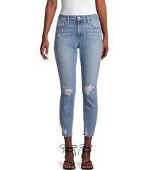 joe's jeans women's cropped slim boyfriend jeans - blue - size 27 (4)