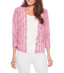 petite women's nic+zoe sweet song cardigan, size large p - pink