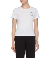 circled chest logo t-shirt
