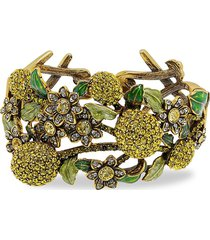 heidi daus women's a lot of lemons crystal floral cuff bracelet