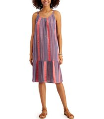 style & co striped midi dress, created for macy's