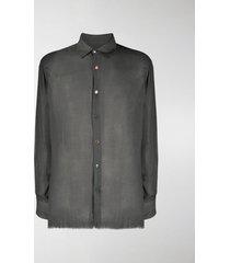 federico curradi frayed cashmere-blend shirt
