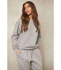 gerecyclede sweater, grey marl