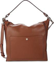 cole haan women's leather shoulder bag - british tan