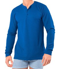 camiseta manga larga azul clásico santana henley