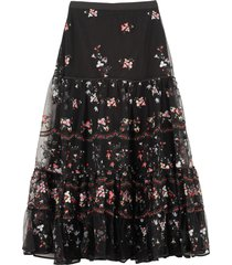 tory burch embroidered tulle skirt