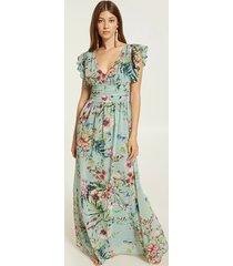 motivi vestito lungo floreale donna verde