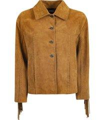 alberta ferretti fringe jacket