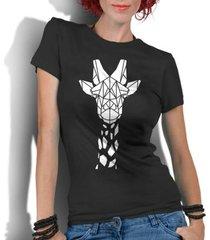 camiseta criativa urbana girafa tribal - feminino