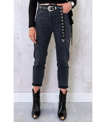 mom fit jeans donkergrijs