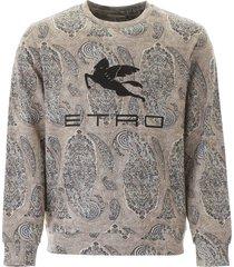 etro sweatshirt with pegaso patch