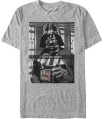 star wars men's classic darth vader give me space short sleeve t-shirt