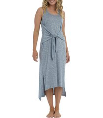 la blanca beach tie front cover-up dress, size x-large in indigo at nordstrom