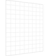 memory board quadro de fotos branco - 65cm x 45cm 6 mini prendedores