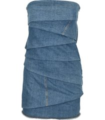 philosophy denim bustier mini dress