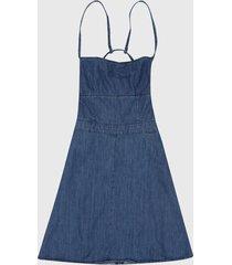 vestido azul denim  pepe jeans