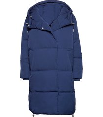 hilliw coat gevoerde lange jas blauw inwear